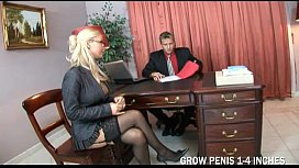 Scorching Blonde Chick Piercings and dicks are her passions