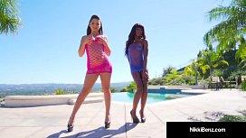 Brunette Nikki Benz? She Casts Abella & Anna in HOT LEZ VID!