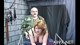 Teen delights with severe pleasure on her hairless cum-hole