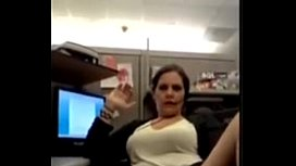 MILF Cums on the Office at Work - more cams at CamsHub.net