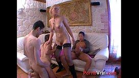 Orgie de sexe French orgy amateur