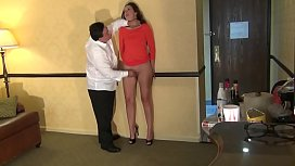 Fingerfucking of a submissive tall hooker