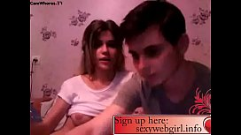 Tiny girl with big tits has fun with his boyfriend
