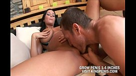 Hot brunette Piercings and dicks are her passions