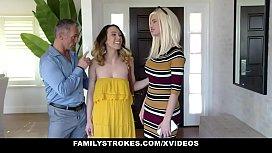 Family Strokes - Hot Teen (Jade Nile) Lets Stepdad Cum On Her Bush