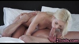 Hot blonde Nesty riding cock
