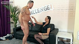 Ripped pantyhose fun for fuck loving Mea Melone
