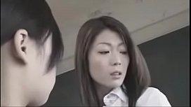 Japanese teacher and student
