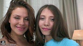 Brand New Cuties Dildoing Each Others Ass - Emma Brown, Stefanie