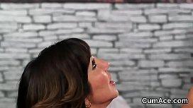 Tami And Tina Gabriel Shares A Load Of Cum After Hot Sex