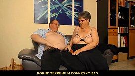 XXX OMAS - Amateur German granny Birgit W gets her mature chubby pussy fucked hard