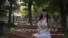 Transparent dress in public xxx video
