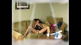 Cute brunette masturbating in front of webcam - web8cam.com