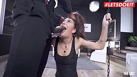 LETSDOEIT - Romanian Teen Brunette Anya Krey Gets Rough ANAL-ized By Huge BBC
