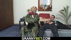 Hot granny games with 60 years old woman