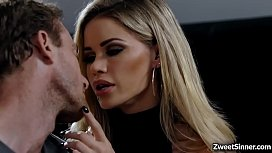 Hot Employee Ryan Mclane Went To Her Boss House And Met His Boss Seductive Wife Jessa Rhodeshe Cant Resist Her Charm And Start Fucking Her Pussy