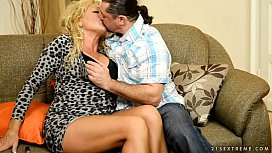 Granny in love with big dick