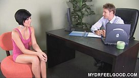 Nymphomaniac Jayden enjoys her sex therapy session