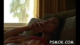 Playgirl smokin'_ and giving a deepthroat at the same time