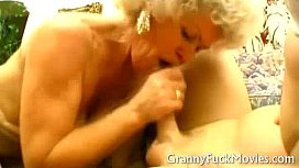 Dirty Granny in trio sex