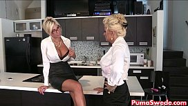 Puma Swede Bobbi Eden are the Lesbian Office Slut