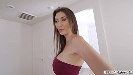 Sexy ass MILF Angelina Diamanti looks so stunning in her new jeans,she asks her stepson if she looks sexy and ended up eating her juicy mature pussy.