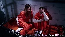 Bigtits inmate licks lez