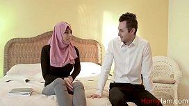 Arab Daughter in Hijab fucks her FATHER- Ella knox