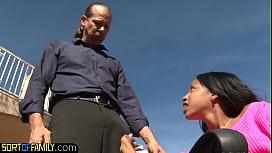 Bigass ebony stepdaughter drilled by stepdad
