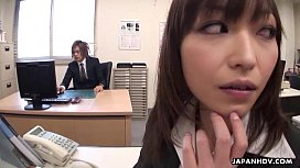 Lady Tsubaki is a sexual freak who gets creamed at the office xnxxعربى