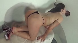 Britney big ass fucking hot in the gloryhole! This girl is a real naughty brazilian girl! Britney sucks a huge dick and take cum in her mouth!