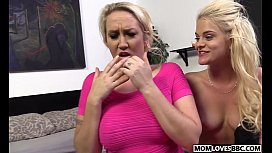 A huge big black cock for stepmom Alana Evans and Miss Dallas xxx video