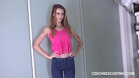 Skinny girl gets boned primitive style