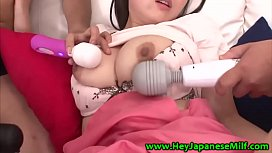 Asian milfs toy play with her studs in threeway