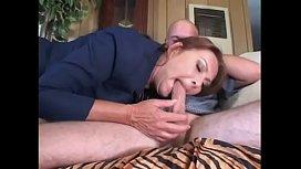 Mature brunette Gigi gives stud BJ then rides his cock