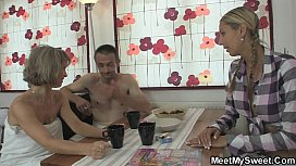 Oral threesome with her BFs parents
