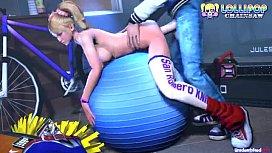 Sexy Juliet Starling having sex