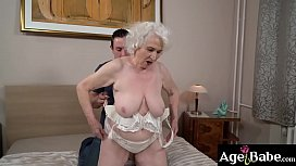Busty granny Norma knows that Rob'_s dick can satisfy her vintage treasure!
