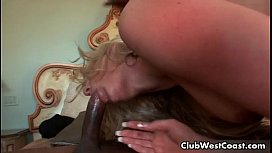 Hot blonde is sucking huge black cock xxx image