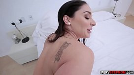 Nasty MILF stepmom shows a stepson new lesson about girls