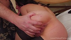 Kinky Brunette Teen Amateur Toys Her Unshaved Pussy