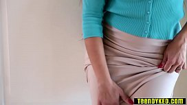 Hot annoyed MILF caught them in a action in her house