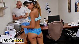 BANGBROS - Jmac Gets His Big Dick Sucked By Our Latin Maid, Sophia Leone