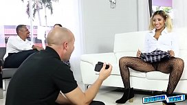 Ally Berry and Freya Von spread her long legs for fun