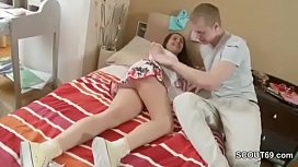 StepBrother Wake Up Sister in Panty to Fuck when Home alone