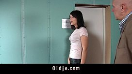 Kinky old man humps two crazy ho girl in their playroom