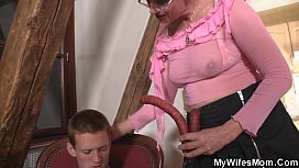Mywifesmom seduces son-in-law sex image