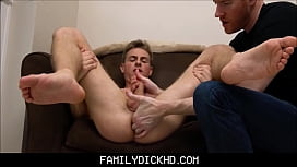 Step Son Jerked Off By Dad During Massage