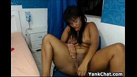 Dark Latina Showing Off Her Pussy