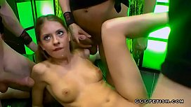 Rebecca shows gangbang and extreme bukkakes with swallowing